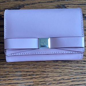 Kate Spade Pink Leather Bow Wallet